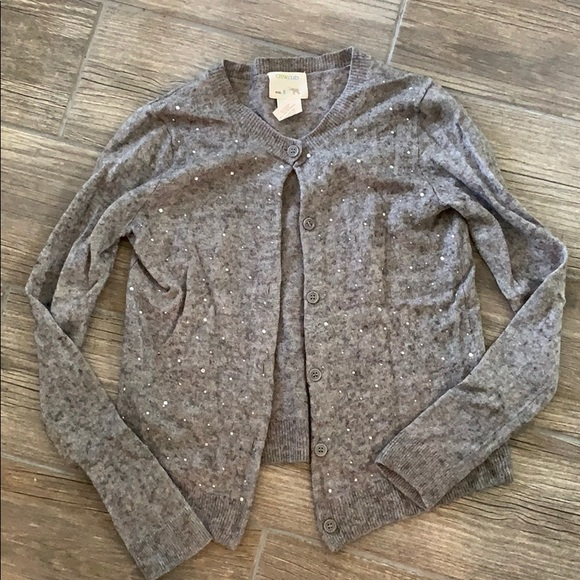 Crewcuts Other - Crewcuts Girls Gray Gem Cardigan Sweater Size 8